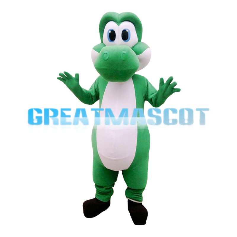 Dazed Green & White Dragon Mascot Costume