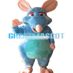 Large Funny Light Blue Mouse Mascot Costume
