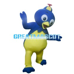 Big Eyes Yellow & Blue Little Bird Mascot Costume