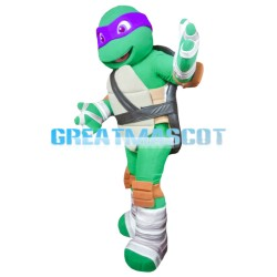 Adult Ninja Turtle With Purple Blindfold Mascot Costume