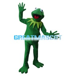 Tall Frog With Heart Shaped Tongue Mascot Costume