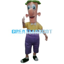 Cup Shaped Head Doll Mascot Costume