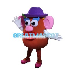 Red Body Doll With Protruding Nose Mascot Costume