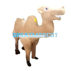 Toothy Brown Camel Mascot Costume