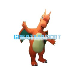 Giant Charizard With Green Wings Mascot Costume