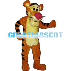 Energetic Plush Jumping Tiger Mascot Costume