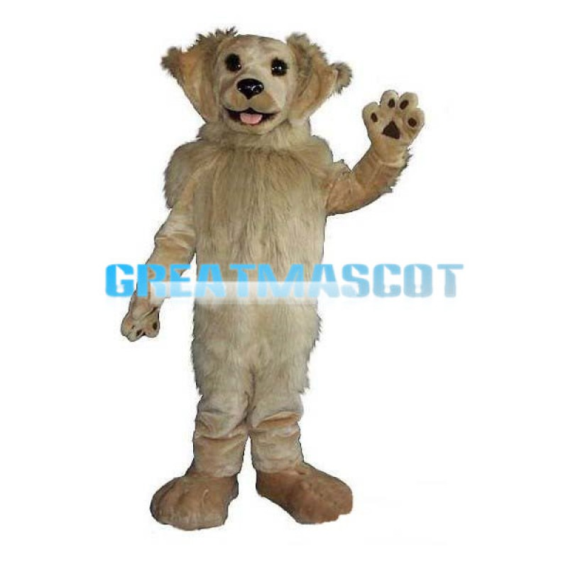 Well-behaved Light Brown Dog Mascot Costume