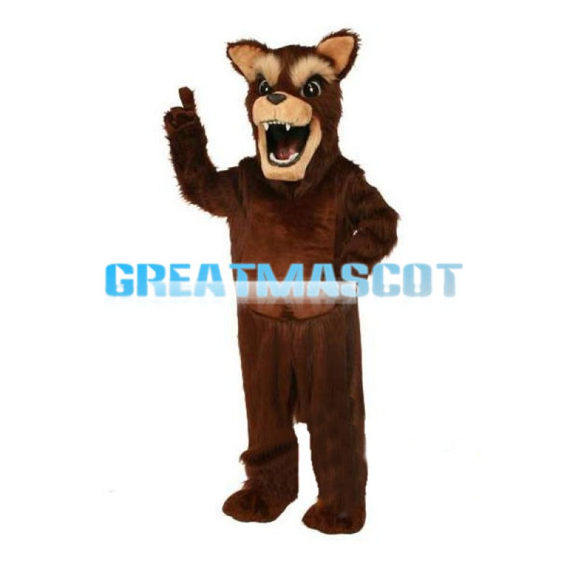 Screaming Brown Dog Mascot Costume