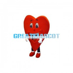 Cartoon Red Love Heart Mascot Costume