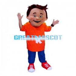 Naughty Freckled Little Boy Mascot Costume