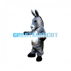 For Activity Grey Donkey Mascot Costume