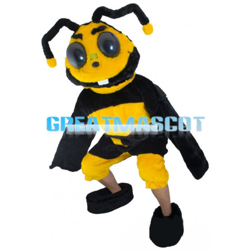 Adult Style Bee With Long Antenna Mascot Costume