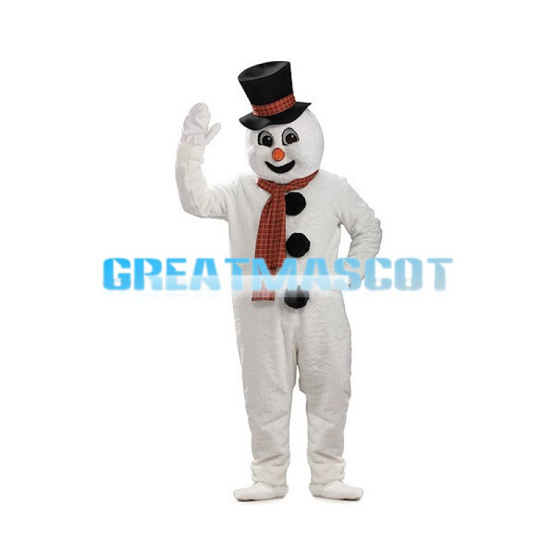 Tall Snowman Mascot Costume For Christmas Party
