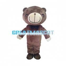Lovable Smiling Bear Mascot Costume