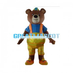 Lovely Brown Bear Baby Mascot Costume