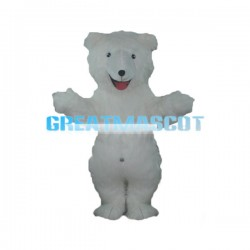 Pure White Polar Bear Mascot Costume