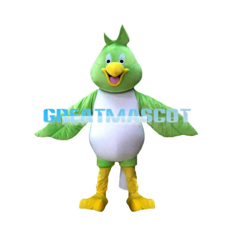 Unisex Emerald Bird Mascot Costume