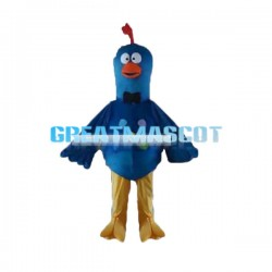 Dazed Blue Little Bird Mascot Costume
