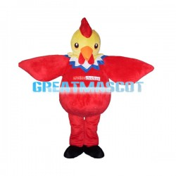 Round Body Red Chicken Mascot Costume