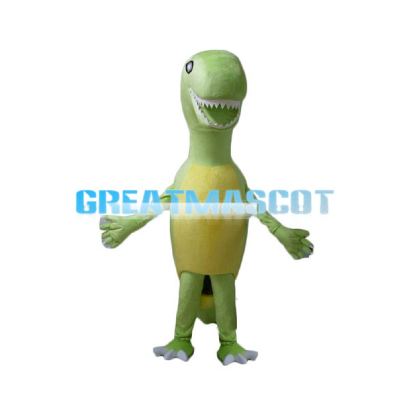 Tall Slim Green Dinosaur Baby Mascot Costume