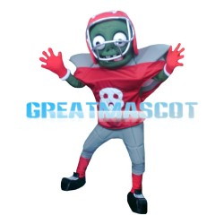 Funny Rugby Player Zombie Mascot Costume