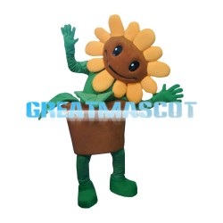 Sunny Sunflower With Flower Pot Mascot Costume