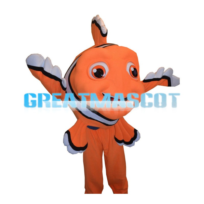 Orange Striped Clownfish Nemo Mascot Costume