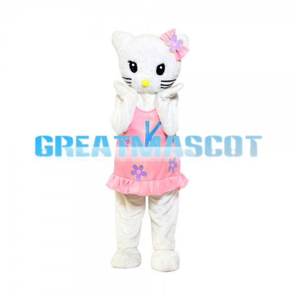 Introvert Shy Hello Kitty Mascot Costume