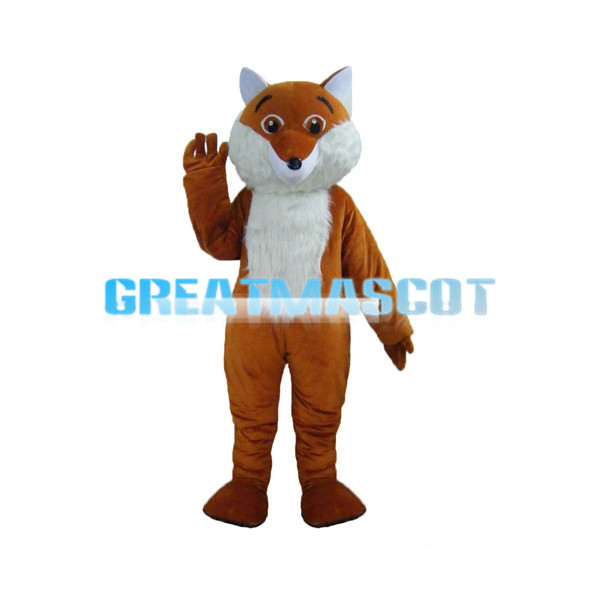 Cunning Red Brown Fox Mascot Costume
