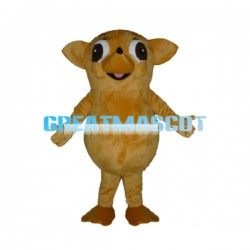 Very Big Eyes Little Yellow Dog Mascot Costume