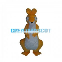 Sleeping Orange & White Kangaroo Mascot Costume