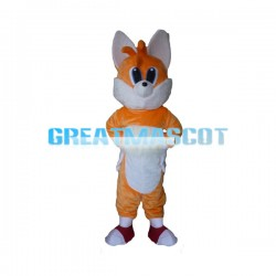 Blue Eyes Orange Fox Mascot Costume