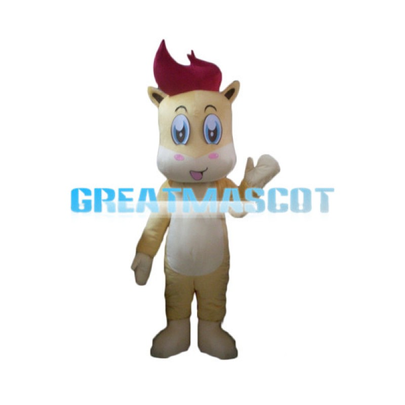 Lovely Blue Eyes Pony Mascot Costume