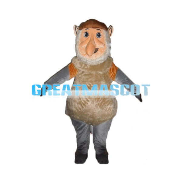 Long Nose Big Belly Old Man Mascot Costume
