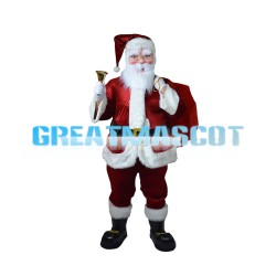 Santa Claus Carrying Gift Bag Mascot Costume