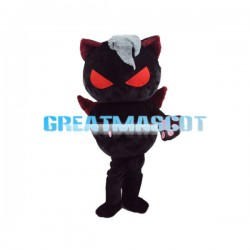 Red Eyes Black Doll With Wings Mascot Costume