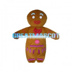 Gingerbread Man Mascot Costume For Christmas Event