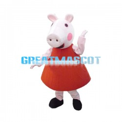 Super Cute Peppa Pig Mascot Costume