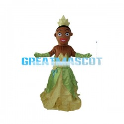 Elegant Prince With Green & Yellow Dress Mascot Costume