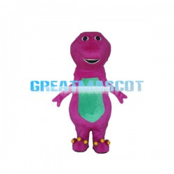 Rose Red & Green Dinosaur Mascot Costume