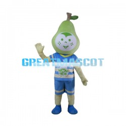Sweet Green Pear Baby Mascot Costume