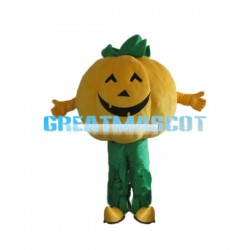Smiling Face Halloween Pumpkin Mascot Costume