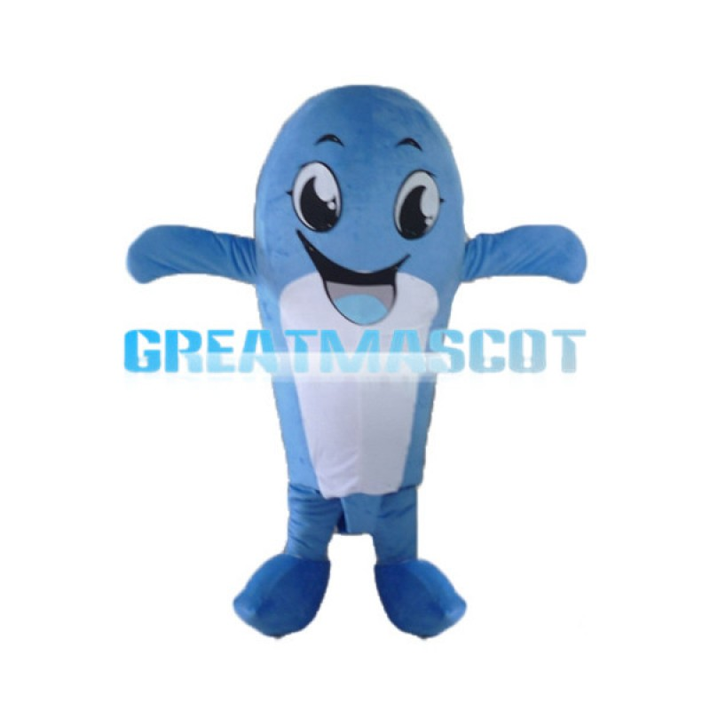 Lifesome Cartoon Dolphin Mascot Costume