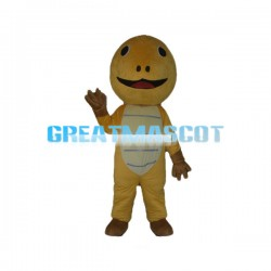 Round Head Yellow Dinosaur Mascot Costume
