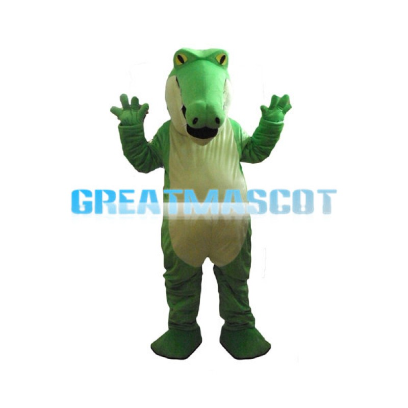 Pointed Mouth Green Crocodile Mascot Costume