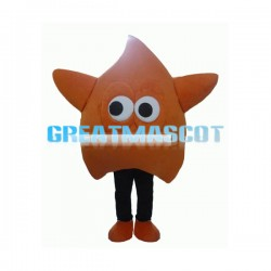 Orange Water Drop Mascot Costume