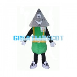 Grey Triangle Head Doll Mascot Costume