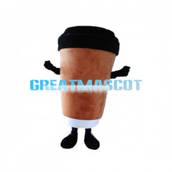 Brown Paper Coffee Cup Mascot Costume
