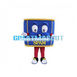 Blue Luncheon Meat Can Mascot Costume