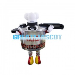 Pressure Cooker Chef Mascot Costume